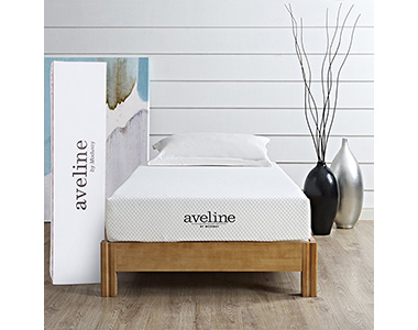 best modway aveline 8 inch cooling memory foam mattress