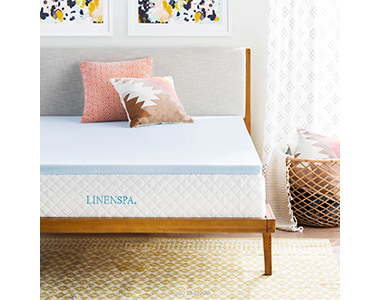 best linenspa gel infused memory foam plush mattress topper
