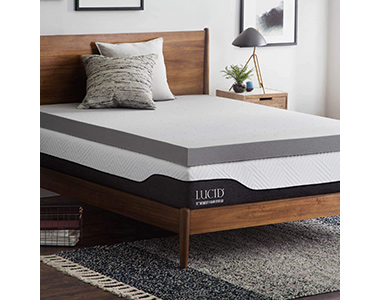 best lucid bamboo charcoal mattress topper for hip pain