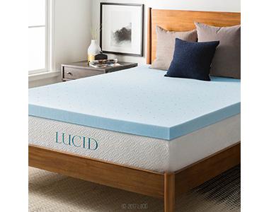 best lucid gel memory foam foam mattress topper