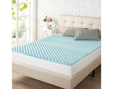 best zinus swirl gel memory foam mattress topper